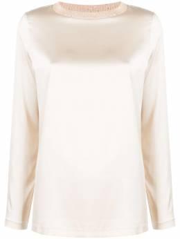 Fabiana Filippi блузка в рубчик с квадратным вырезом TPD220B8340000F106