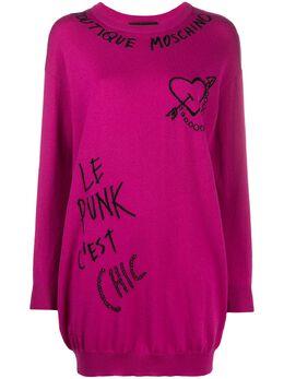 Boutique Moschino платье-джемпер с вышивкой J04955800
