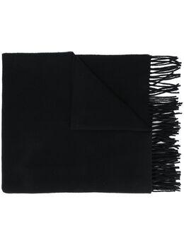 Moncler шарф с нашивкой-логотипом и бахромой F20933C71200A0146