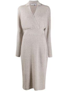 Agnona платье миди в рубчик KR000581D120A