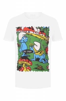 Хлопковая футболка Bisibiglio BIG SMURF