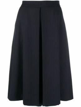 Piazza Sempione плиссированная юбка в тонкую полоску PG070P0S3454