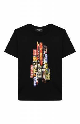 Хлопковая футболка Neil Barrett Kids 026041