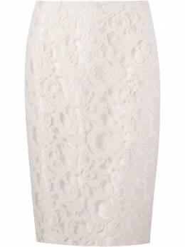 Martha Medeiros кружевная юбка-карандаш IN15SA07OFFWHITE