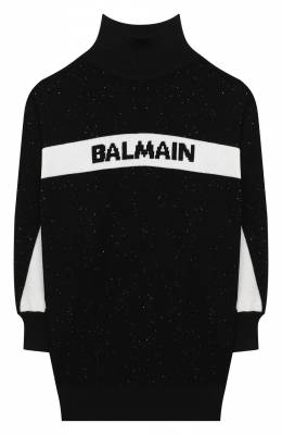 Шерстяное платье Balmain 6N1090/NB850/4-10