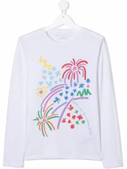 Stella McCartney Kids топ с длинными рукавами и графичным принтом 601097SPJF8