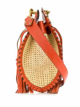 Isabel Marant сумка через плечо с соломенными вставками BF009520E009M