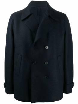 Harris Wharf London двубортное пальто C9214MLKY