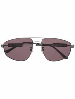 Balenciaga Eyewear солнцезащитные очки Tag Pilot в прямоугольной оправе 628254T0005