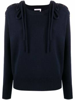 See By Chloe свитер со шнуровкой на плечах CHS20AMP145704A7