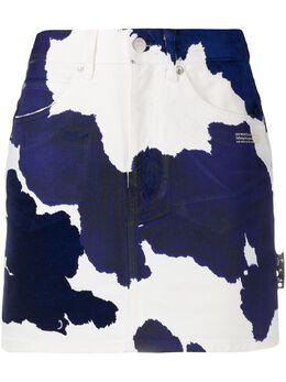 Off-White джинсовая юбка с принтом OWYF005F20DEN0026145