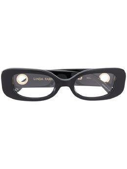 Linda Farrow очки в прямоугольной оправе LFL1117C4OPT