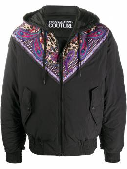 Versace Jeans Couture куртка с капюшоном и принтом Paisley Leopard EC1GZA9C4E25128