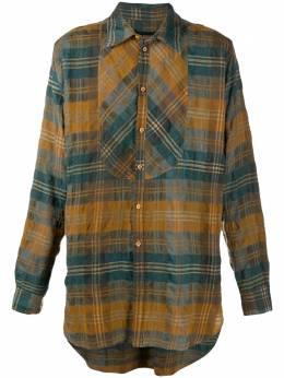Uma Wang клетчатая рубашка с жатым эффектом UM1507