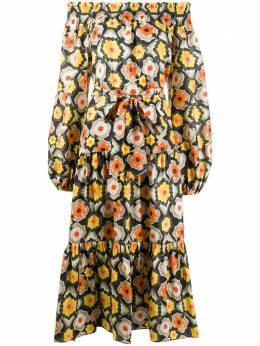 Temperley London платье с открытыми плечами и принтом 20UCRC53527