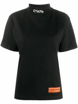 Heron Preston футболка с высоким воротником HWAA021E20JER0011001