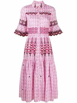 Temperley London расклешенное платье-рубашка Poet 20UPTO53523