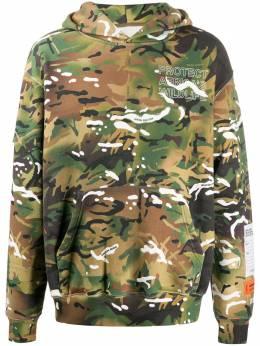 Heron Preston худи с камуфляжным принтом HMBB010F20JER0085901