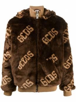 GCDS куртка с искусственным мехом и логотипом FW21M040050