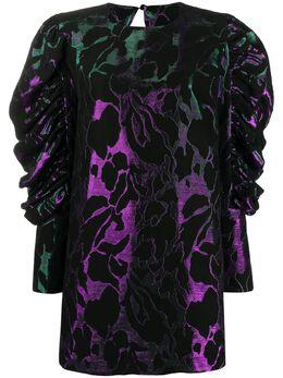 Federica Tosi жаккардовое платье мини с цветочным узором FTI20AB1230JQ0038