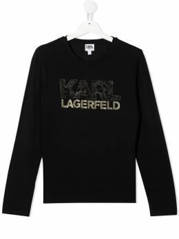 Karl Lagerfeld Kids толстовка с логотипом Z15266