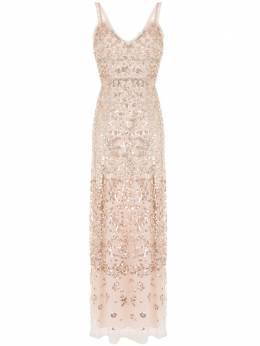 Needle & Thread вечернее платье с пайетками и оборками DGSL36RPF20BSG