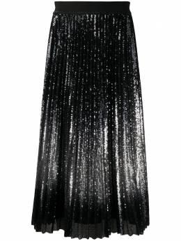 Luisa Cerano плиссированная юбка с пайетками 52809124810