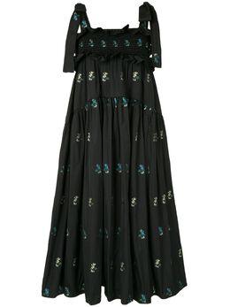 Cecilie Bahnsen платье Mika с цветочной вышивкой PF200041MIKADRESS