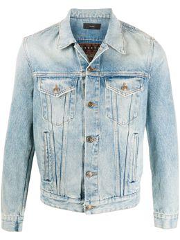 Alanui джинсовая куртка с узором LMYE003F20DEN0038685