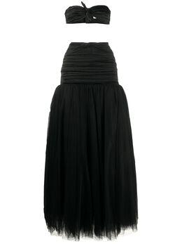 Alessandra Rich юбка и топ со сборками FAB2289F2569
