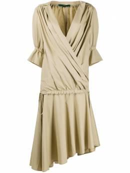 Jejia многослойное платье миди с запахом A110205059