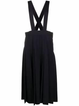 Comme Des Garcons Girl юбка миди с подтяжками и складками NFA00105123
