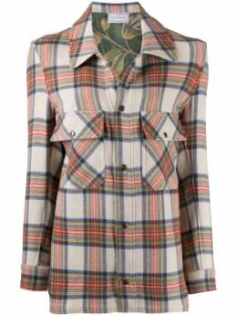 Pierre-louis Mascia куртка-рубашка в клетку тартан PANCAKECG10958
