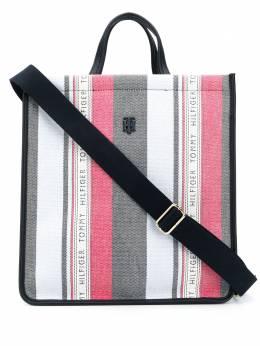 Tommy Hilfiger сумка-тоут в полоску с логотипом AW0AW08698