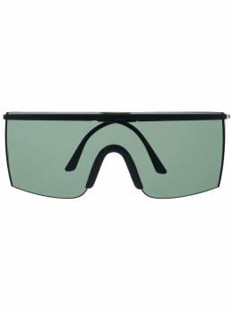 Versace Pre-Owned массивные солнцезащитные очки 1990-х годов VRSC420