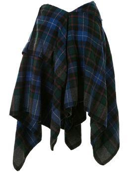 Comme Des Garcons Pre-Owned юбка асимметричного кроя в клетку тартан GKS016