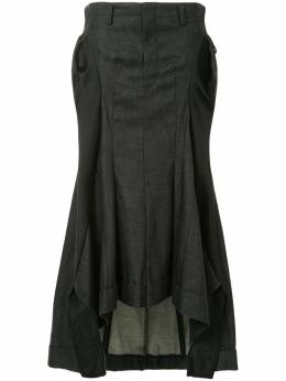 Junya Watanabe Comme Des Garcons Pre-Owned расклешенная джинсовая юбка со сборками JSS008