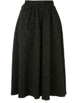 Mm6 Maison Margiela жаккардовая юбка с леопардовым принтом S52MA0102S53059