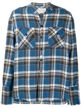 Greg Lauren рубашка в клетку AM046
