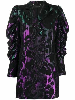 Federica Tosi жаккардовое платье-блейзер с эффектом металлик FTI20AB1240JQ0038