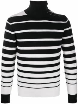 Paco Rabanne свитер в полоску с высоким воротником 20AMPU086ML0082