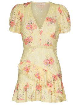 Loveshackfancy платье Bea с английской вышивкой и цветочным принтом LD567563