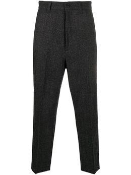 Junya Watanabe Man брюки прямого кроя с узором в елочку WFP03205112