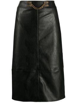 Elisabetta Franchi юбка из искусственной кожи с цепочкой GO41906E2