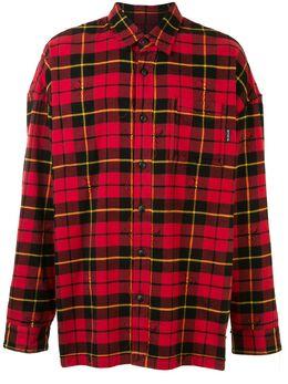Mastermind World клетчатая рубашка с бахромой MW20S05SH003007
