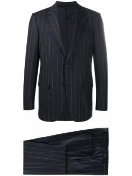 Ermenegildo Zegna полосатый костюм с однобортным пиджаком 82258022M22Y