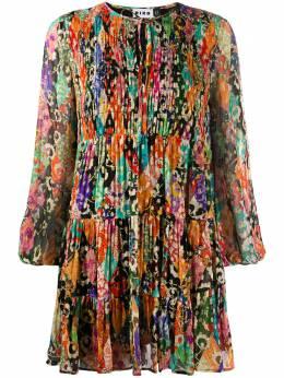 Rixo расклешенное платье с цветочным принтом и сборками RIX10594320887