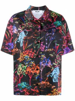 MSGM рубашка с короткими рукавами и графичным принтом 2943MDE08207622