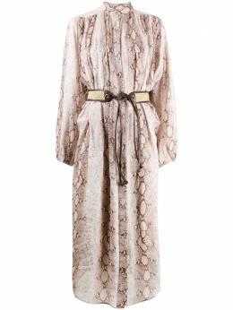 Zimmermann платье Bellitude с рукавами 'летучая мышь' 7109DBTD