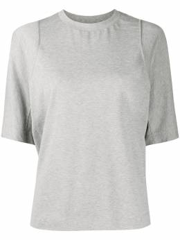 Y-3 футболка с круглым вырезом и вставками GK4466